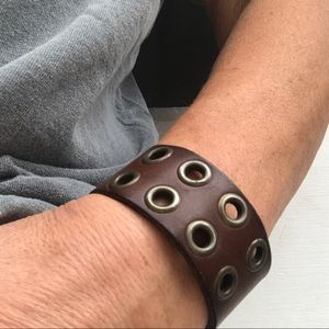 Jewelry - Upcycled Belt Bracelet